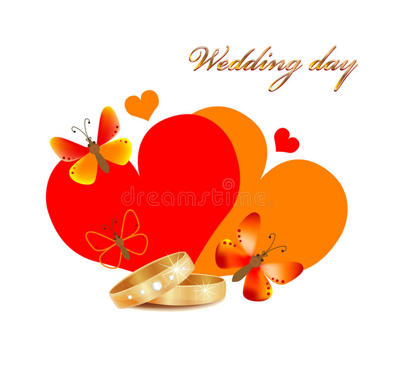 Download Wedding card stock vector. Image of decoration, golden - 16719251