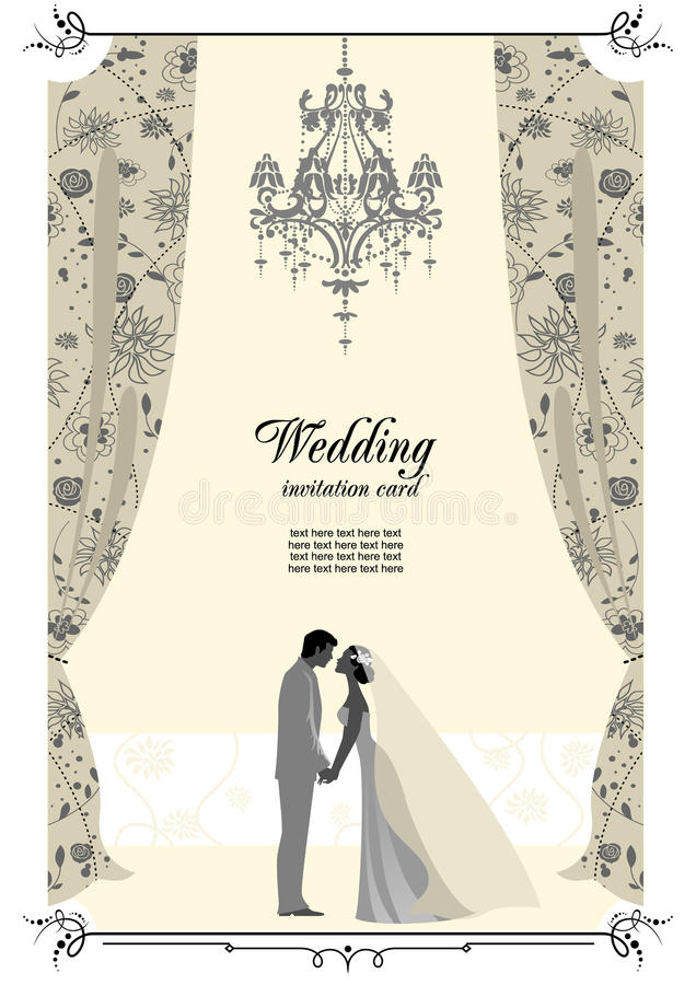 Download Wedding card stock vector. Image of flower, bridal, background - 18638215