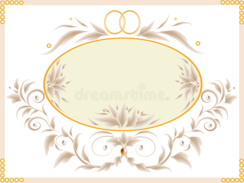 Download Wedding card stock vector. Illustration of decoration - 9096957