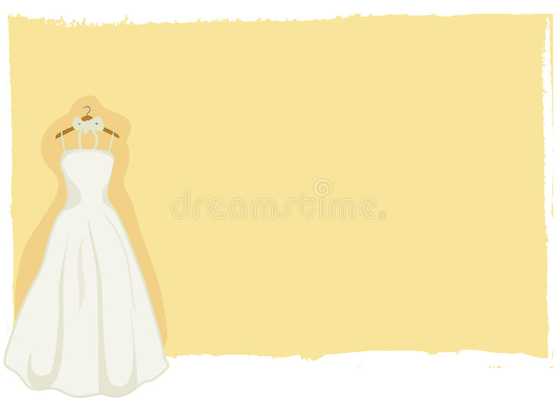 Download Wedding Card - Bridal Gown Vector Stock Photography - Image: 23868602