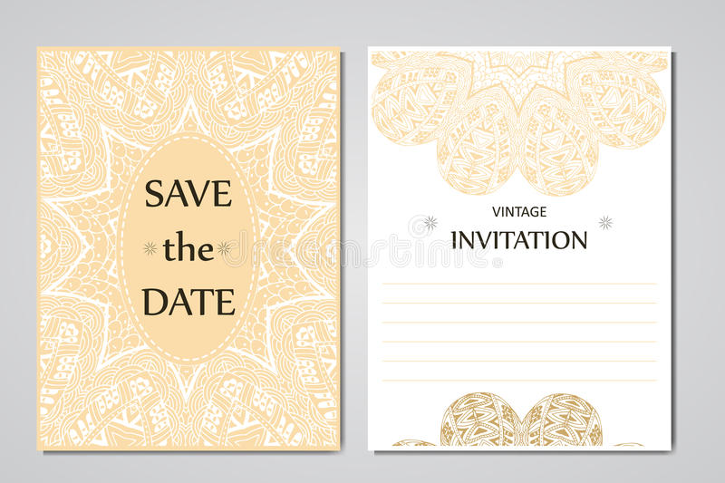 Wedding card collection with mandala template of invitation card download wedding card collection with mandala template of invitation card decorative greeting invitaion design stopboris Images