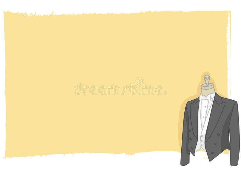 Wedding card - groom dress vector royalty free stock photo