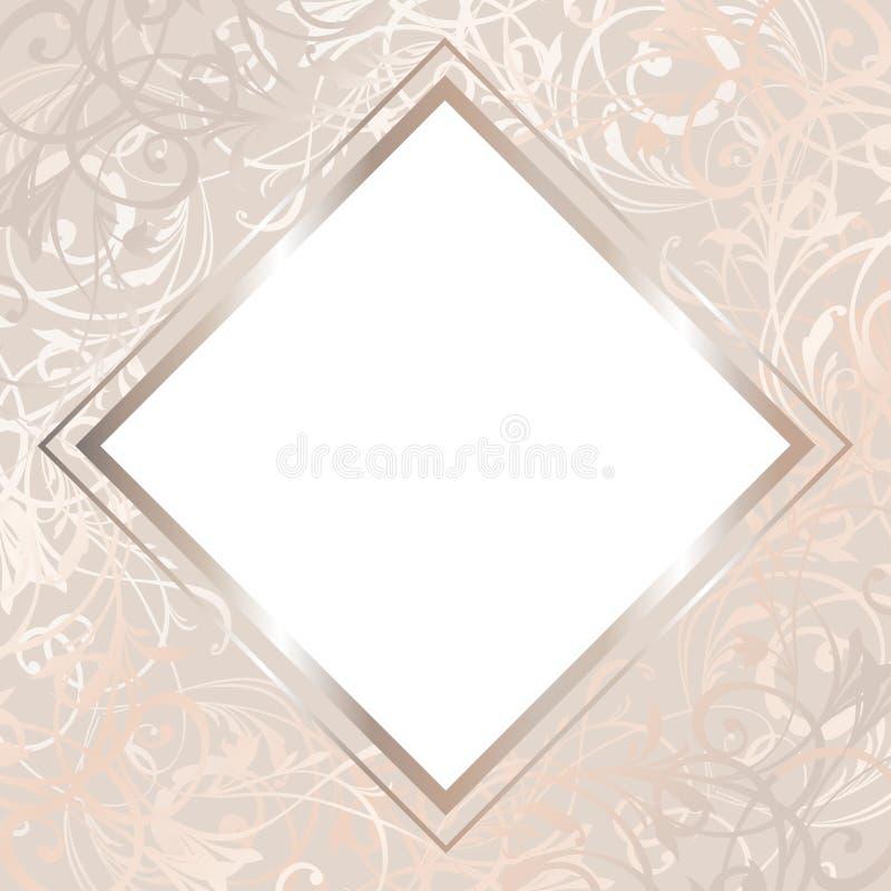 Wedding Card Illustration. John and Lilly Invitation in Vector. Bridal Shower Template.  vector illustration