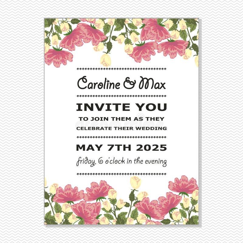 Download Wedding card stock illustration. Image of advertisi, bridal - 33816419