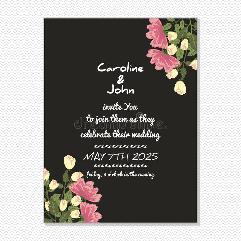 Download Wedding card stock illustration. Image of happy, easter - 33816566