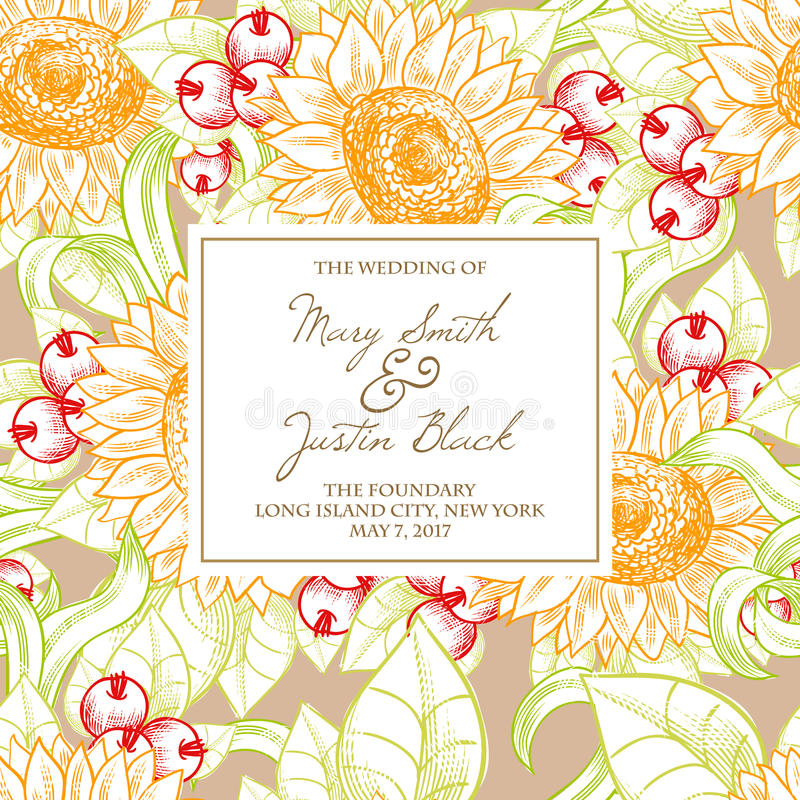 Download Wedding card stock vector. Image of decoupage, beautiful - 36061304