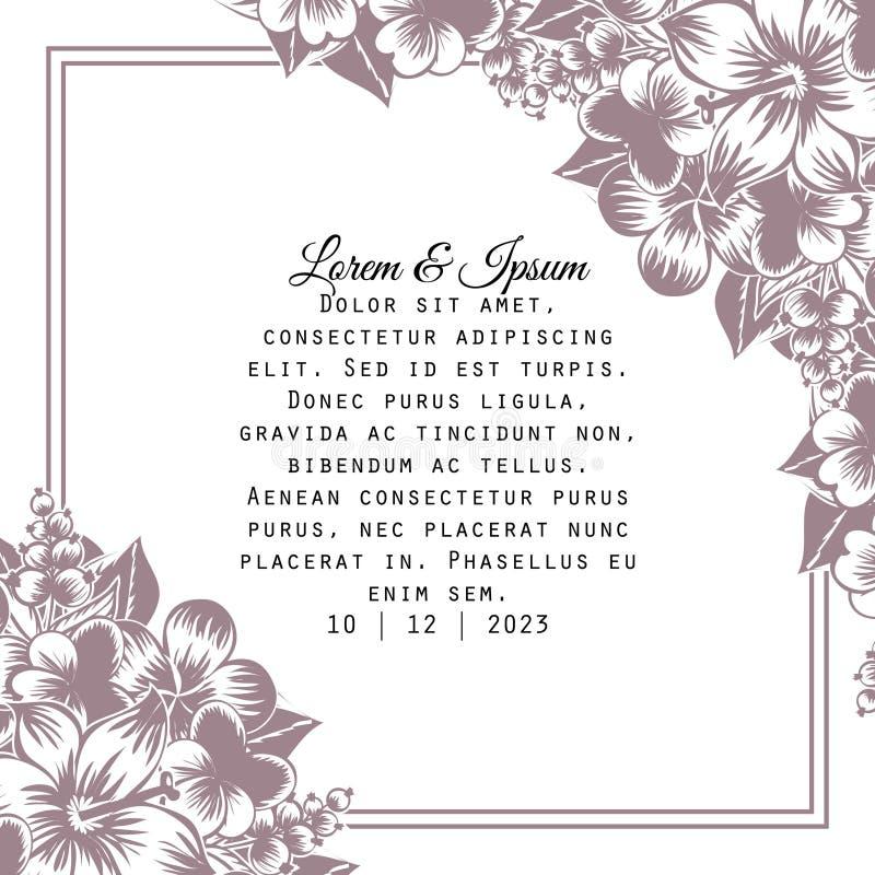 Wedding card vector illustration