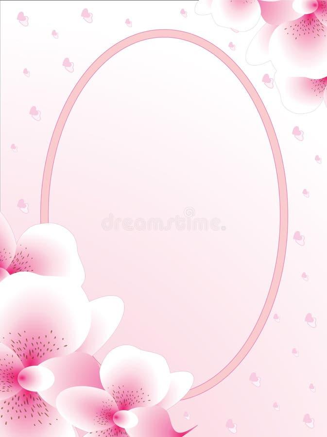 wedding card or invitation  shower  valentine theme stock illustration