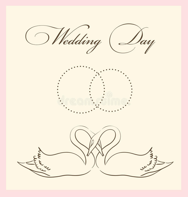 Wedding Card Template Stock Image - Image: 19203571