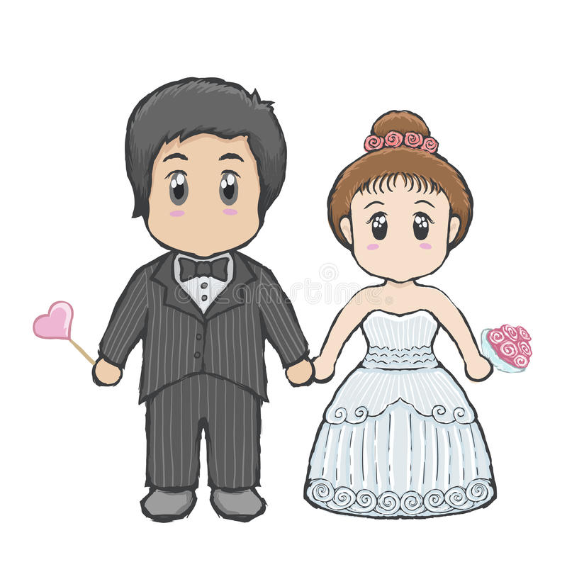 Wedding cartoon stock photo