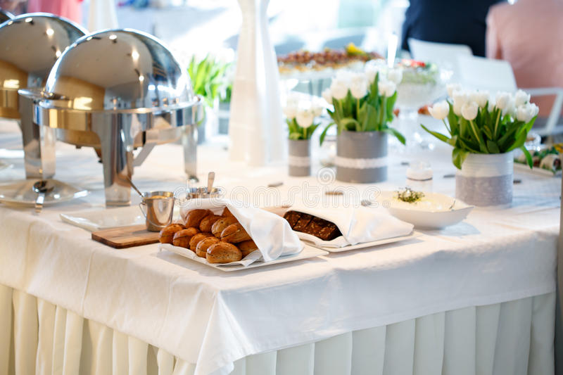 Wedding catering royalty free stock photos