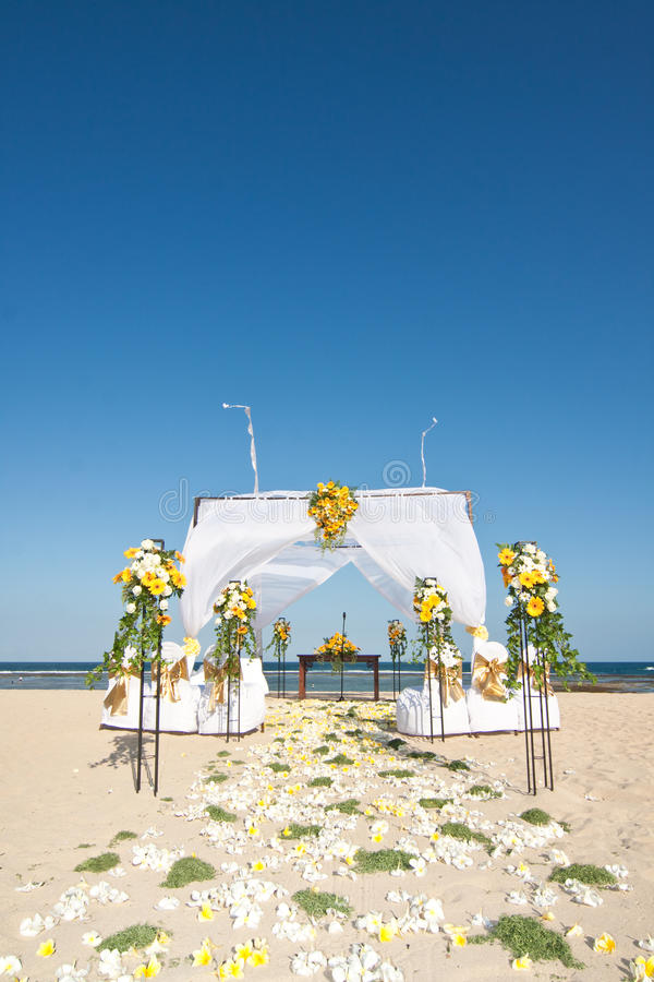 Download Wedding Ceremony On A Beach Stock Photo - Image of union, path: 16720914