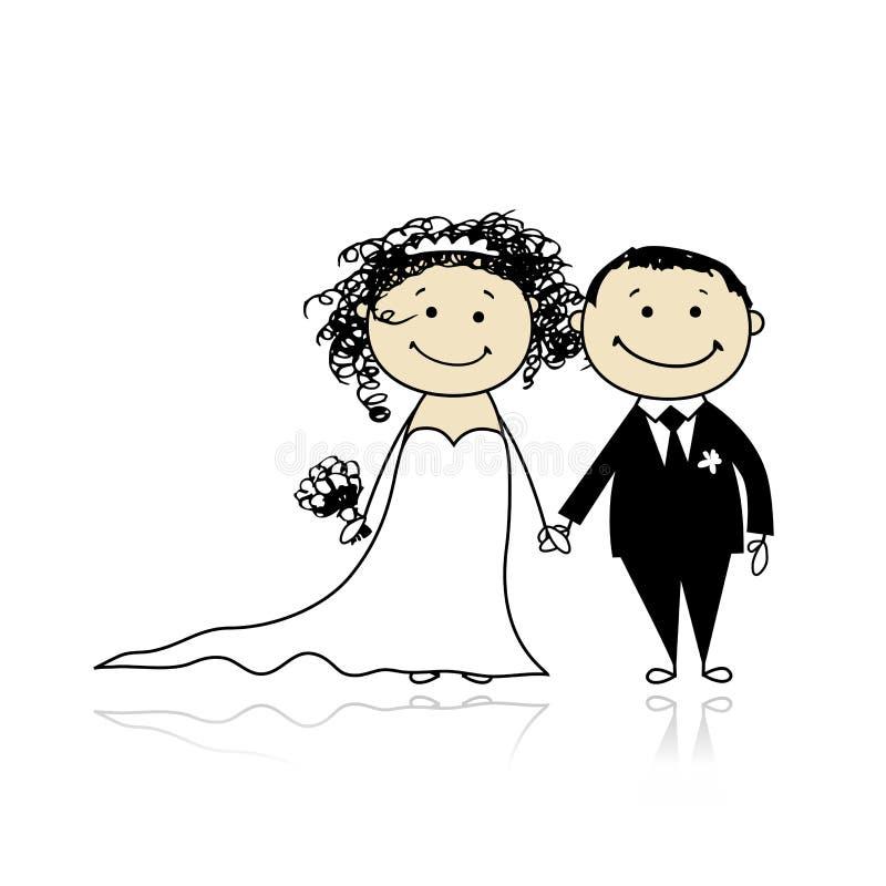 Download Wedding Ceremony - Bride And Groom Together Stock Vector - Illustration: 19384723