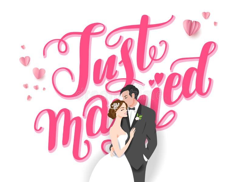 Wedding couple logo stock illustration