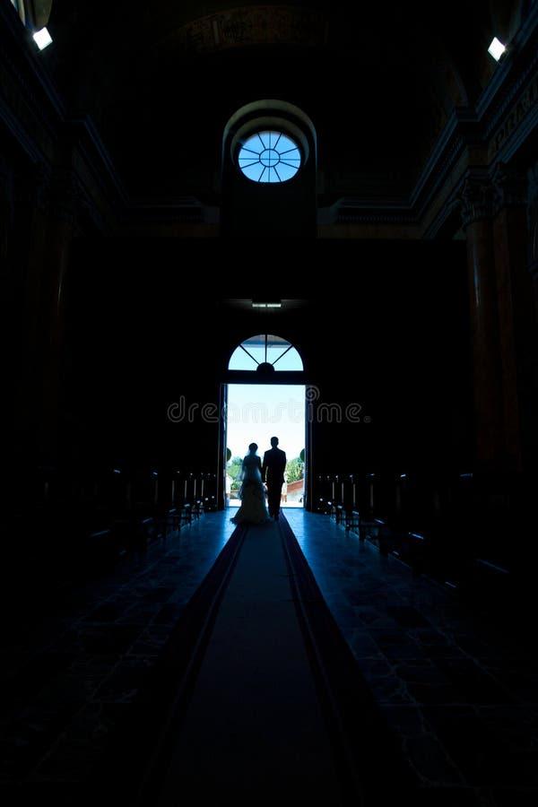 Wedding in church royalty free stock photos