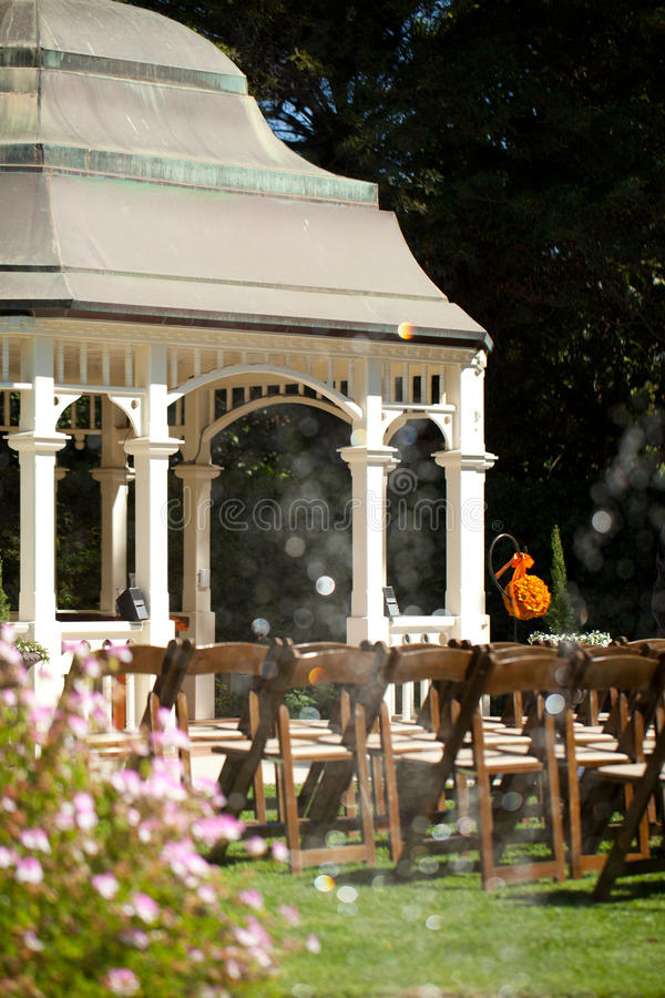 Download Wedding ceremony in garden stock photo. Image of gazebo - 28889954