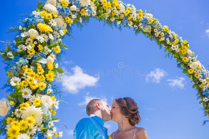 Wedding Ceremony at the Tropical Coast Line. Asia royalty free stock photos