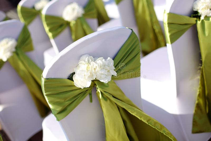 Download Wedding chair stock photo. Image of flowers, line, cover - 29623770