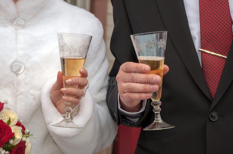 Download Wedding champagne stock image. Image of glasses, couple - 37646813