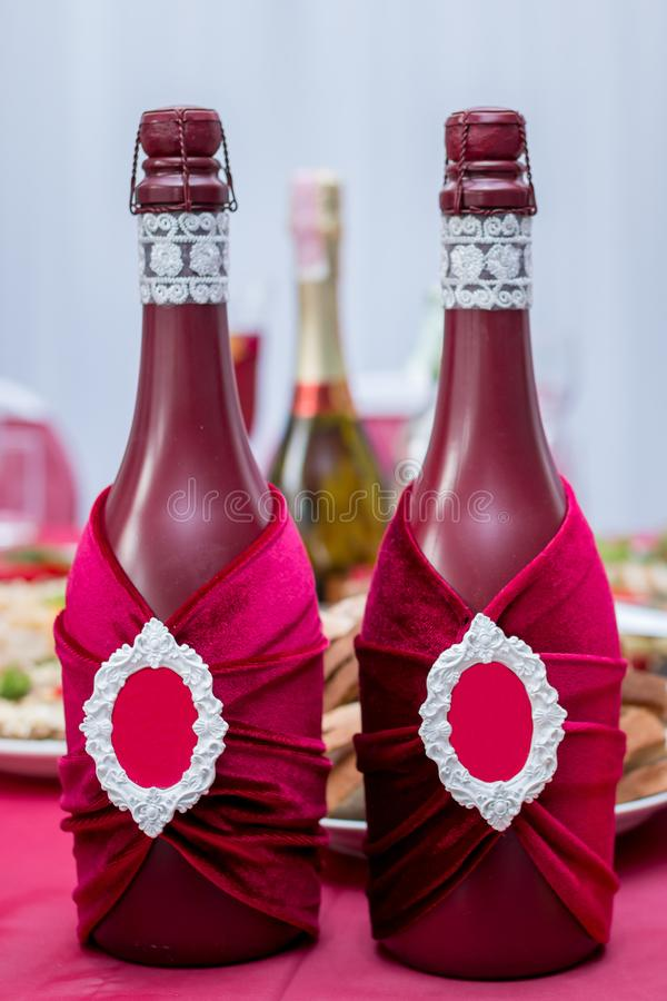 Wedding decoration in red style royalty free stock photo
