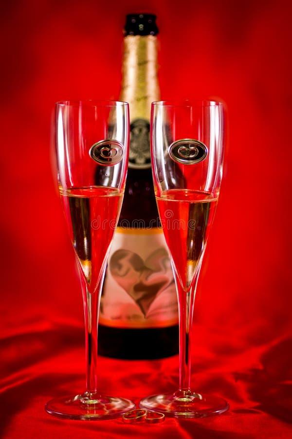 Wedding Champagne Glasses Stock Image