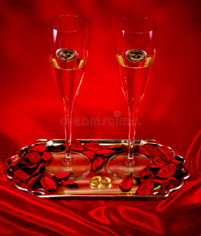Download Wedding champagne glasses stock photo. Image of couple - 28443758