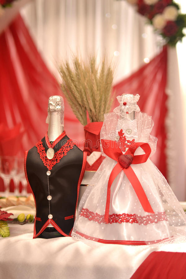 Wedding champagne for honeymooners royalty free stock images
