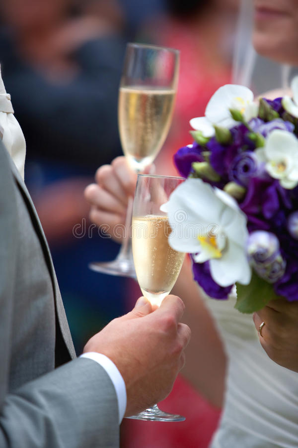Free Wedding Champagne Toast Royalty Free Stock Photos - 10671868