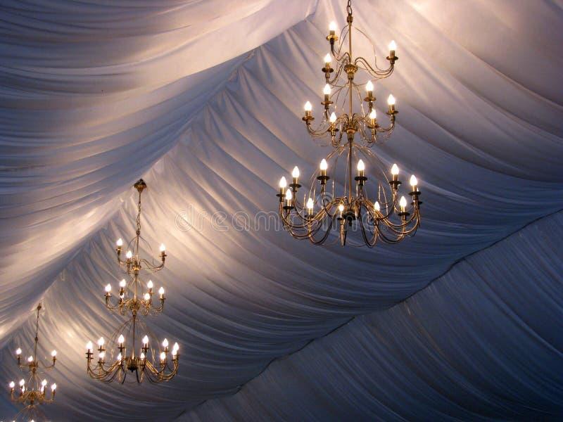 Wedding chandeliers stock photos