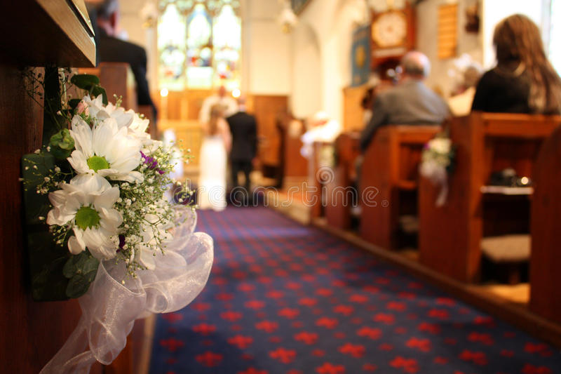 Download Wedding in Church stock photo. Image of aisle, bouquet - 14596884