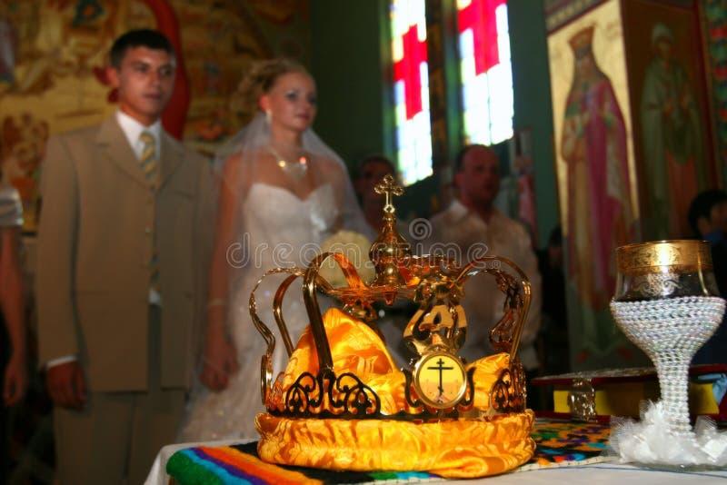 Wedding in church. royalty free stock photos