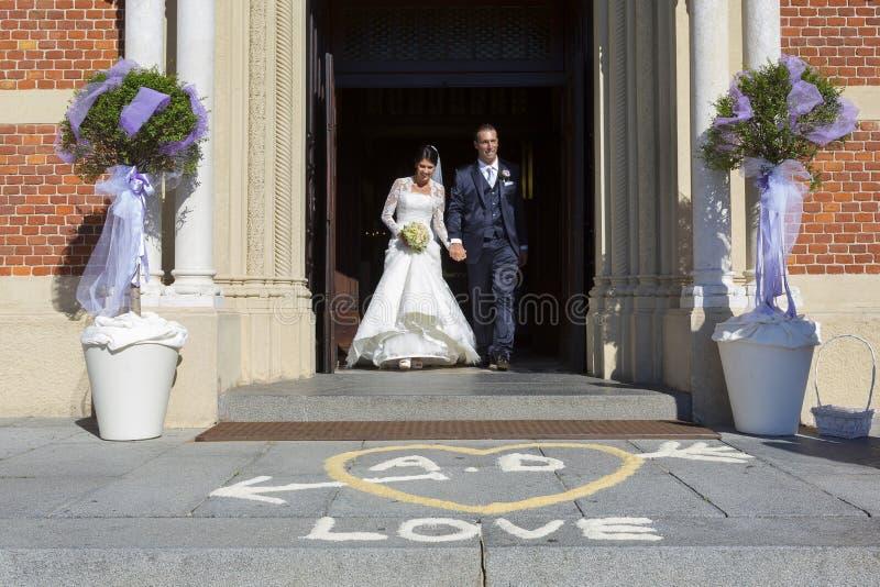 Wedding in church stock image