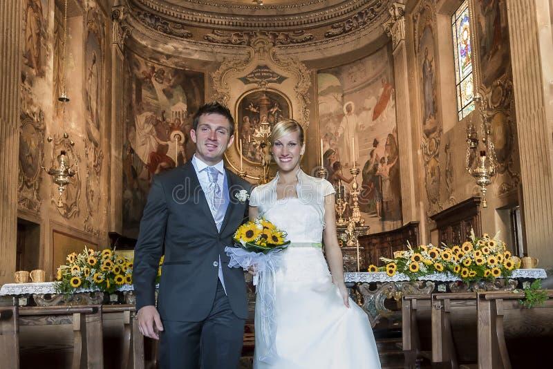 Wedding in church royalty free stock image