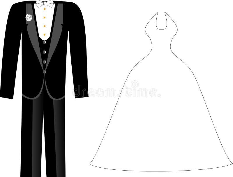 Wedding Clothes vector illustration