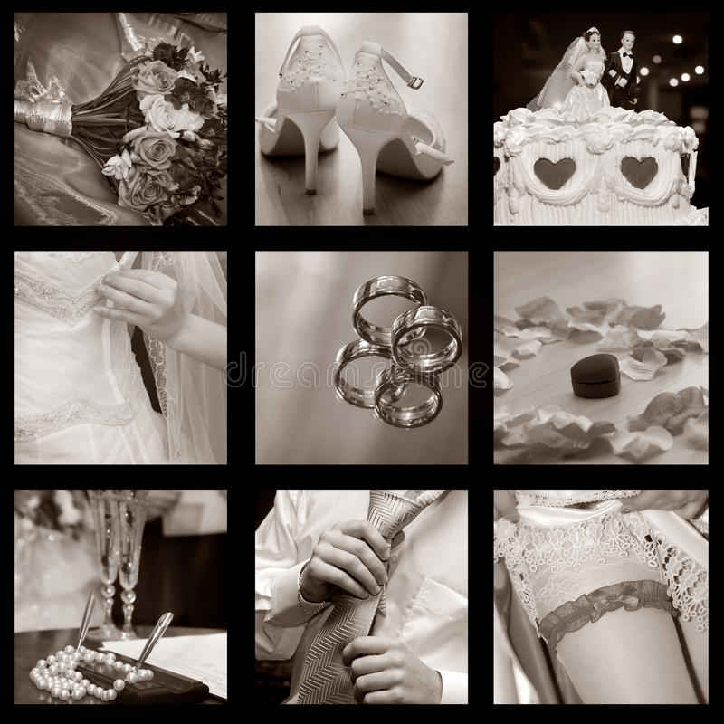 Download Wedding collage stock image. Image of collage, concept - 11637571