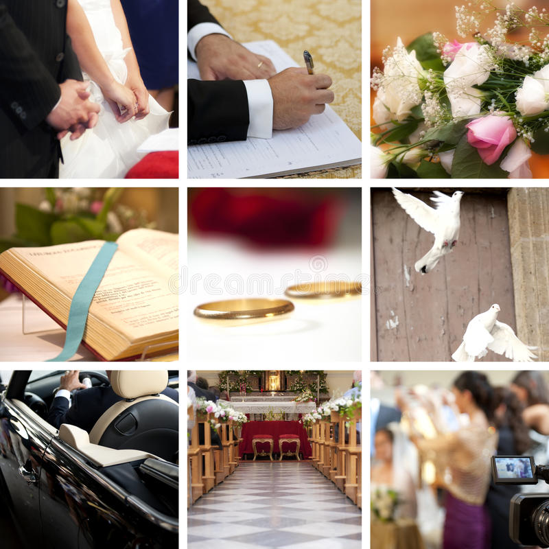 Free Wedding Collage Royalty Free Stock Images - 17859719