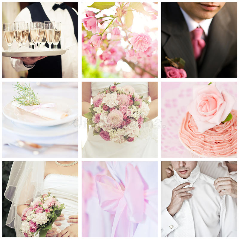 Download Wedding collage stock image. Image of bouquet, heart - 26459979
