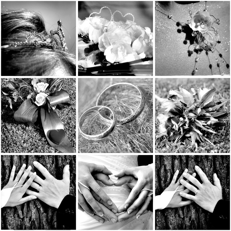 Download Wedding Collage stock image. Image of fashion, flower - 5643687