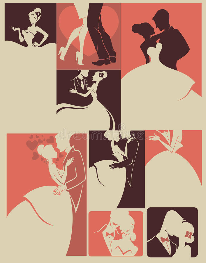 Wedding collection vector illustration