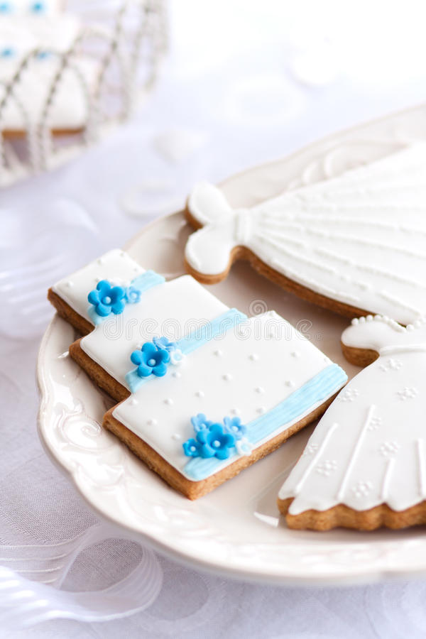 Download Wedding cookies stock image. Image of white, favor, blue - 18704167