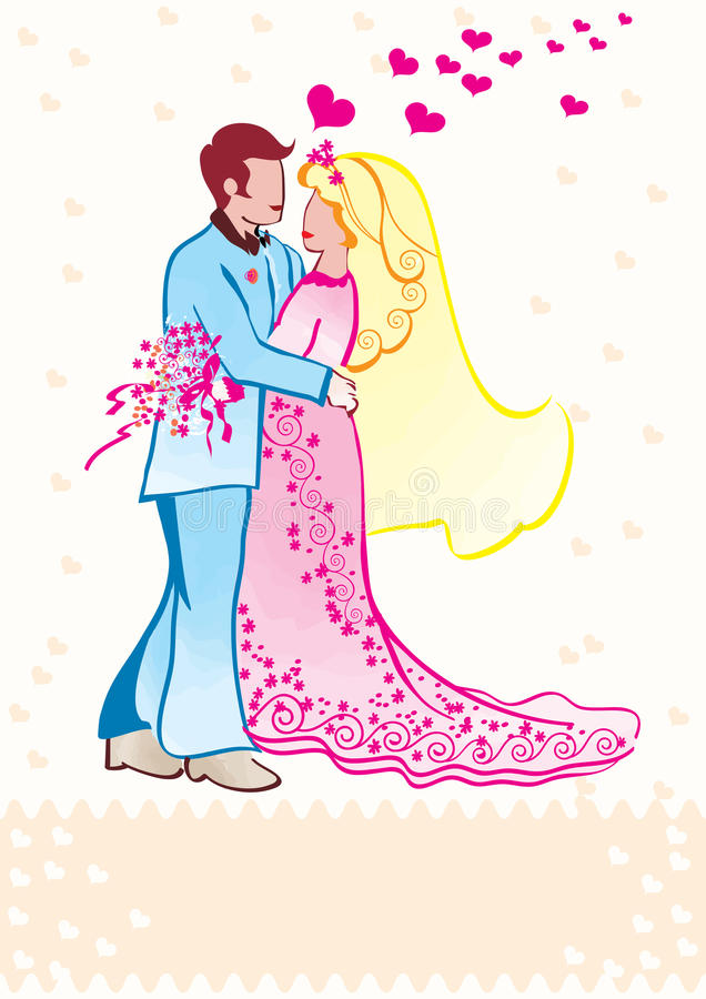 Download Wedding couple stock vector. Illustration of girl, male - 14565977