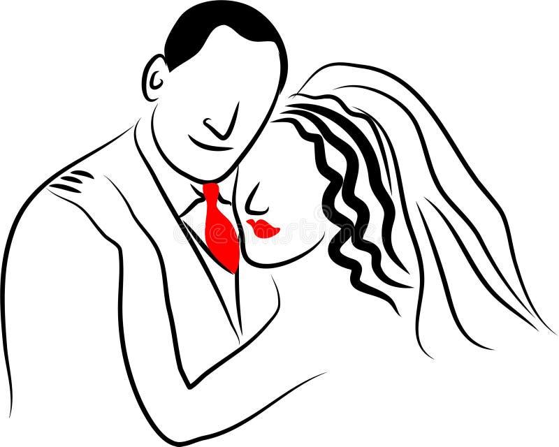 Wedding Couple royalty free illustration
