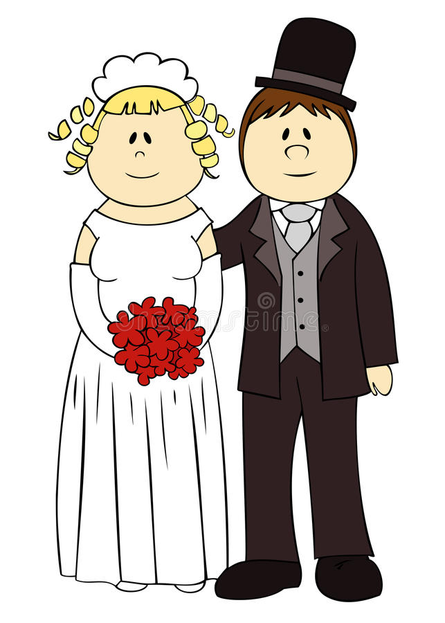 Download Wedding couple. stock vector. Image of married, husband - 18684658