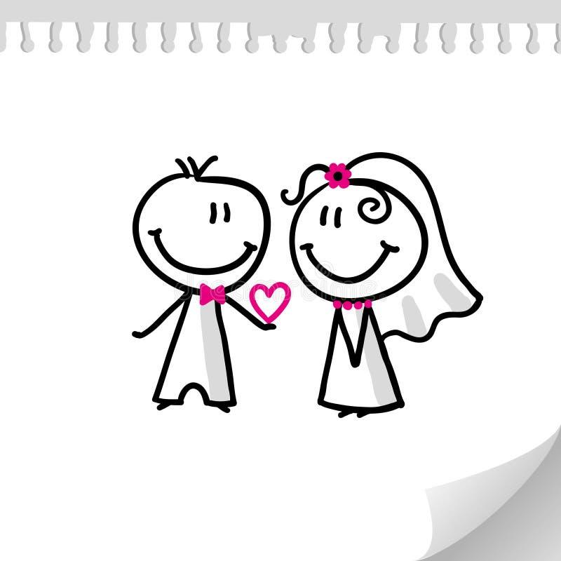 Wedding couple stock illustration