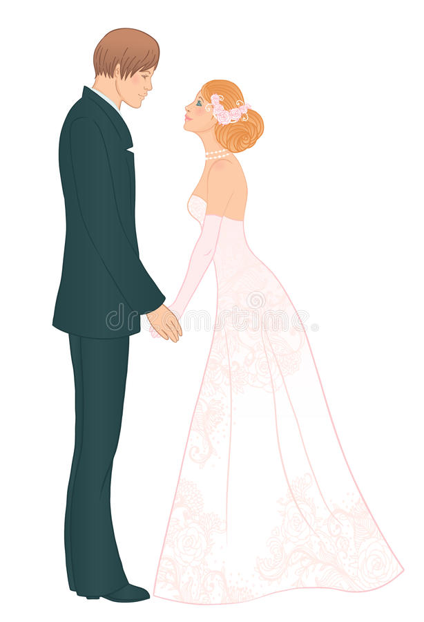 Download Wedding  couple stock vector. Image of graphic, isolated - 21415379