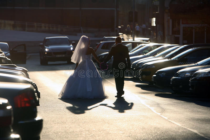 Download Wedding couple stock image. Image of gown, hand, couple - 27141349