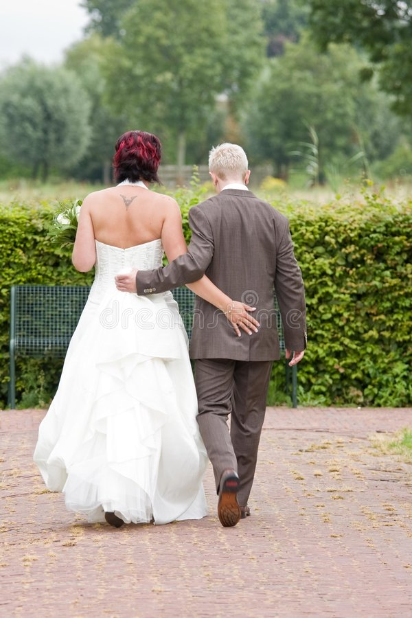Download A wedding couple stock image. Image of lifestyle, dress - 7611641