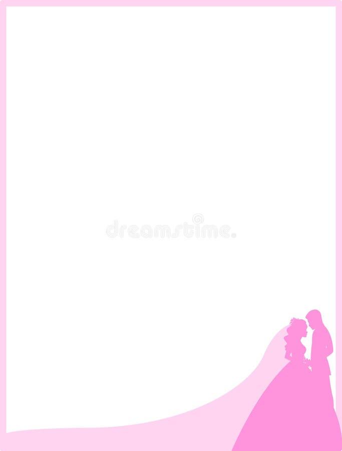 Wedding couple border frame stock illustration