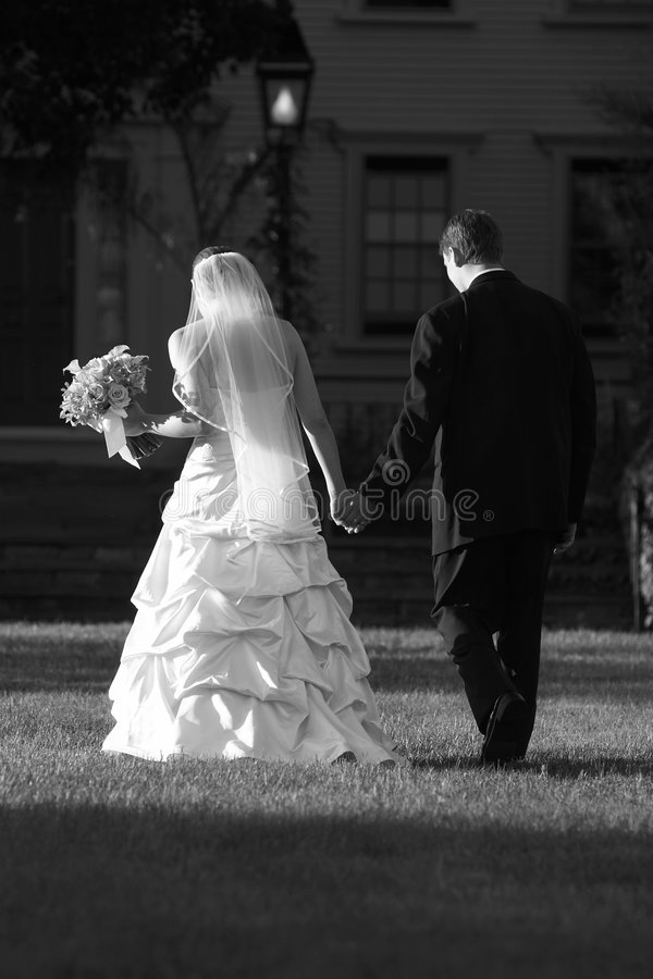 Wedding couple - Bride and Groom royalty free stock photography