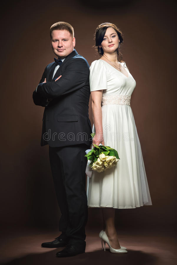 Wedding couple of bride and groom.  stock photography